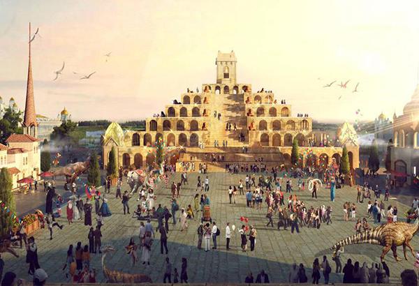 北戴河好莱坞魔法城堡预览效果图